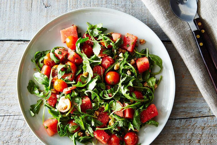 Watermelon, Tomato, and Four-Herb Salad on Food52