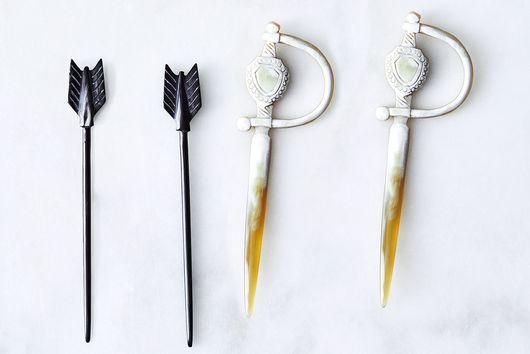 Hand-Carved Horn Cocktail Picks (Set of 4)