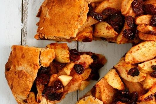 Cranberry, Apple, and Pear Crostata