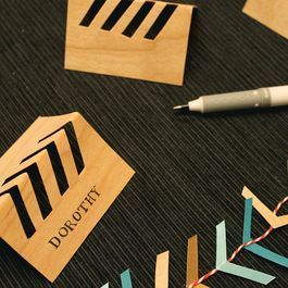 DIY Chevron Cut-Out Placecards