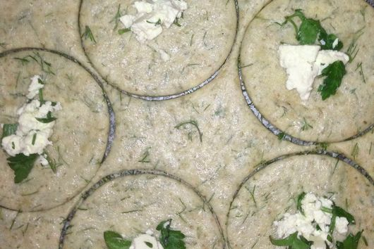 Herby Rye Pogacha/Scone with mahlab and cheese