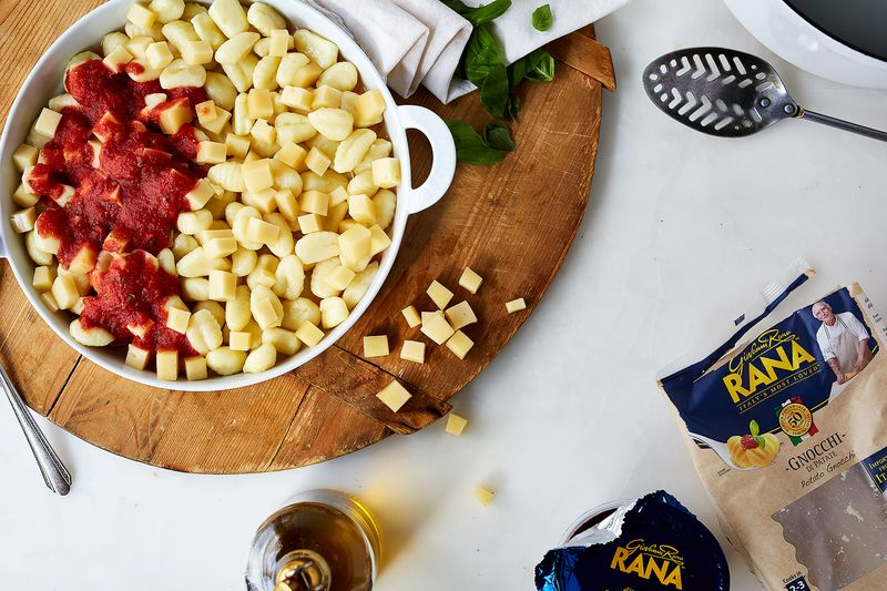 Cheesy, cheery gnocchi, I heart you.
