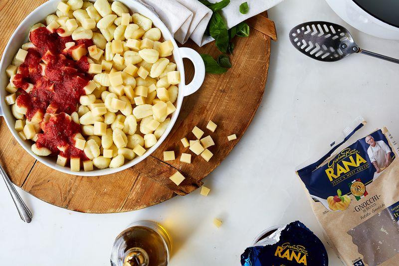 Cheesy, cheery gnocchi, I heart you.