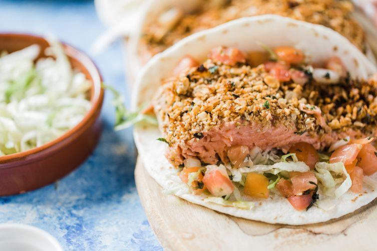 Gut Friendly Salmon Tacos With Prebiotics