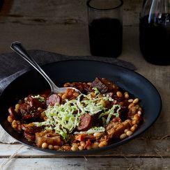 Arrocina Beans with Chorizo, Morcilla, and Pork Belly