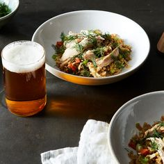 Spicy Beer-Braised Chicken with Quick Fried Rice