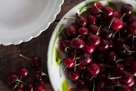 Homemade Ricotta & Rose Poached Cherries