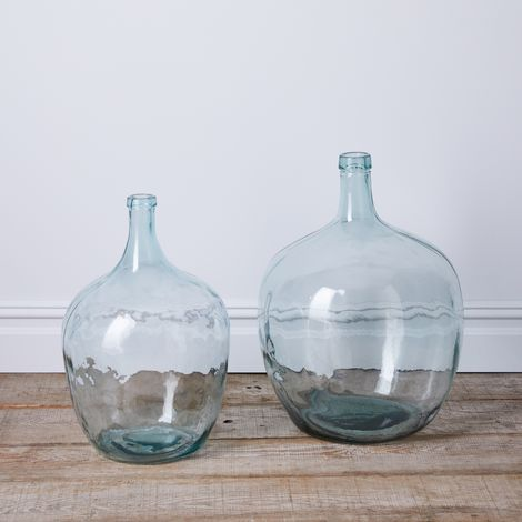 Vintage Recycled Glass Demijohn