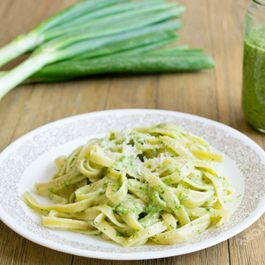 Walnut and Onion Top Pesto
