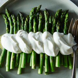 Alice B. Toklas' Asparagus in Salt & Pepper Whipped Cream