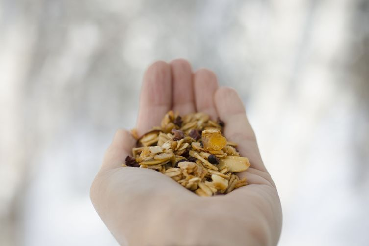 Winter Granola (cocoa nibs and candied orange)