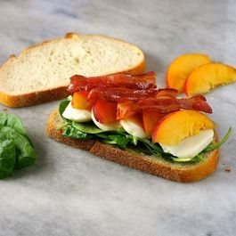 Peach, Bacon, and Smoked Mozzarella Panini