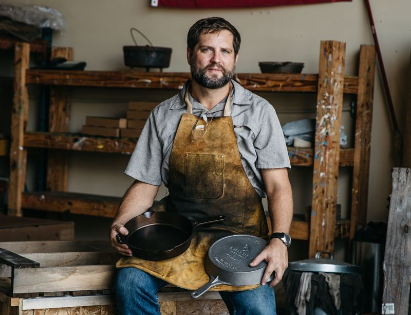 Meet Isaac Morton (and his awesome cast iron skillets).