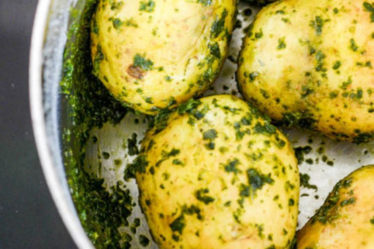 Thai Basil Pesto Potatoes