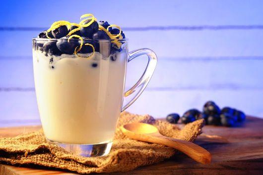 Blueberry and Rose Water Yogurt Parfait