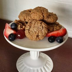 Chewy Almond Butter Chia Cookies