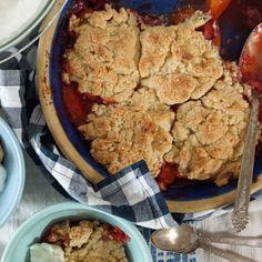 Strawberry Apricot Cobbler