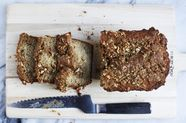 Brown Butter Banana Bread With Peanut Streusel