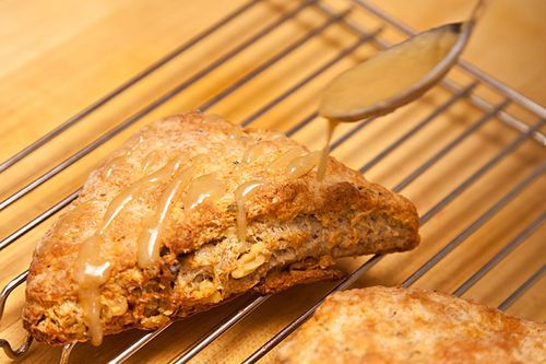 Walnut Sage Scones with Brown Butter Maple Glaze Recipe on ...