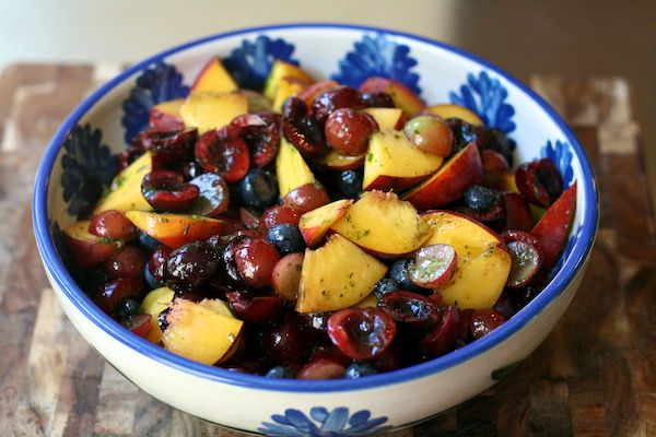 Fruit Salad with Mint Sugar