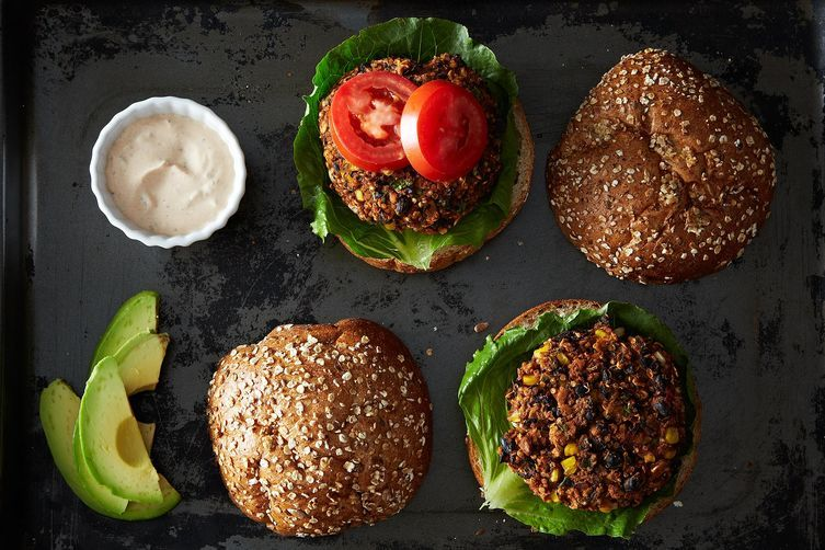 Black Bean and Quinoa Burgers from Food52