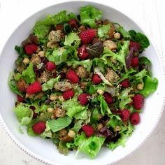 Coconut Mint Raspberry Panzanella