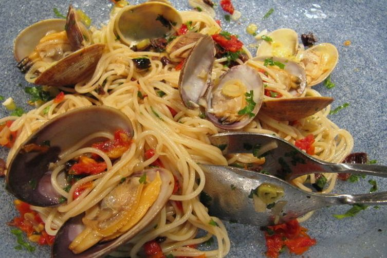 Boozy Date Night Clams and Capellini