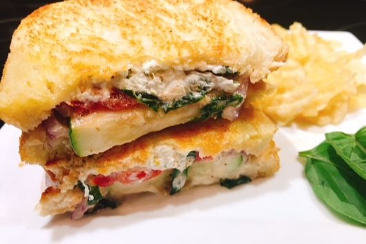 Goat Cheese & Vegetable Paninis
