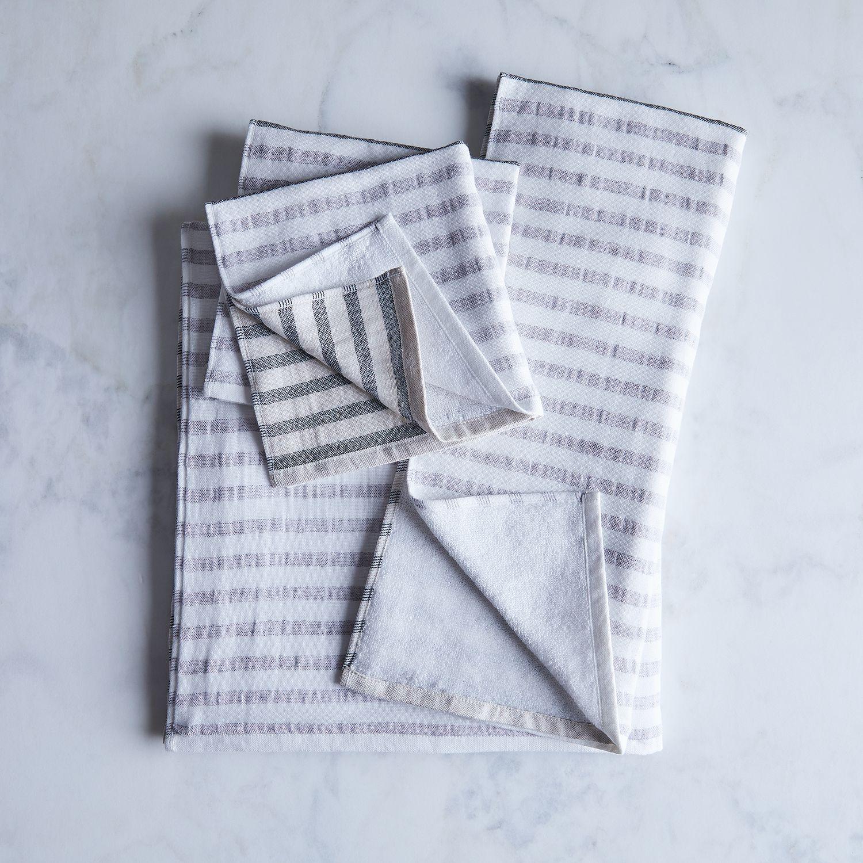 Travel Towel Japan: Striped Linen & Cotton Japanese Bath Towels On Food52