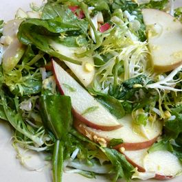 Winter Greens and Apple Salad with Hard-Boiled Eggs