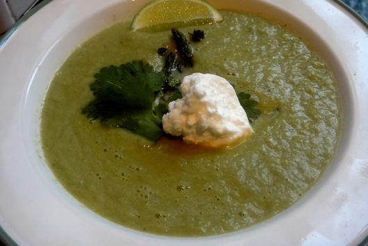 Asparagus Cilantro Thyme Soup