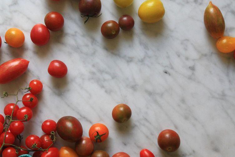 Nectarine, Cherry Tomato + Cornbread Panzanella
