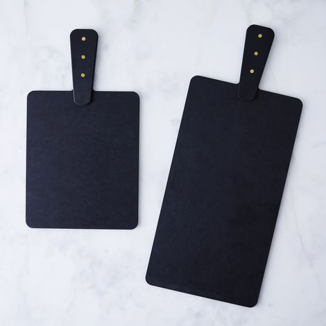 Matte Black & Brass Boards (Set of 2)