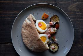 Egg and Eggplant Sandwich (Sabih)
