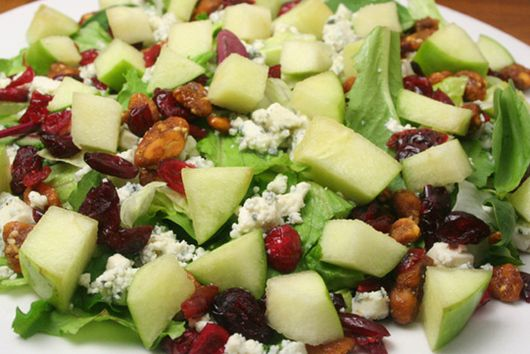 Autumn Apple Salad with Cinnamon Cider Vinaigrette