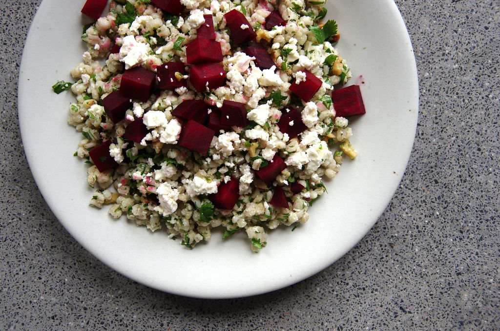 Warm Roasted Beet and Feta Salad