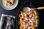 Challah Bread Pudding with Raspberries