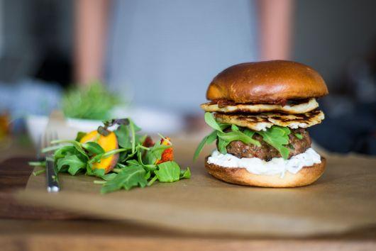 Harissa Lamb Burger