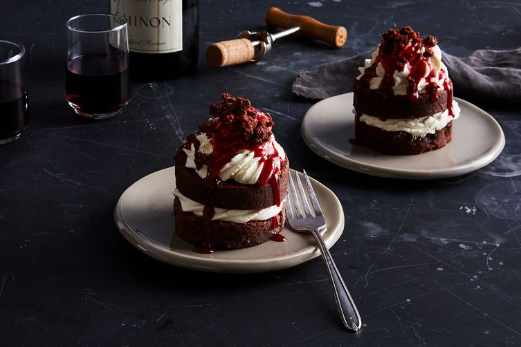 Mini Brownie Layer Cakes Recipe on Food52