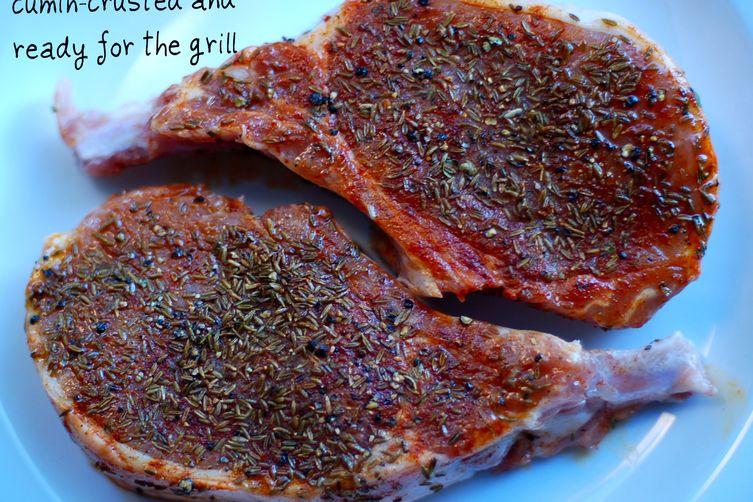 cumin crusted pork chops