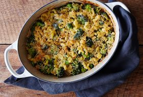 Macaroni-and-Cheese (& Broccoli) Casserole