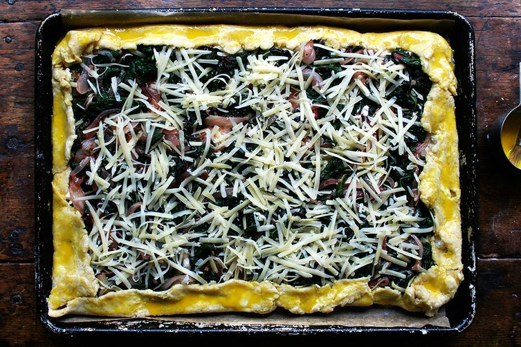 Slab Galette with Swiss Chard and Gruyère