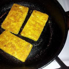 Fried Tofu Sandwich, Cornmeal Breading