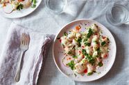 Scallop Crudo with Coconut Milk and Lime