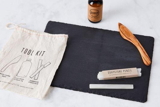 Natural Slate Cheese Board Set