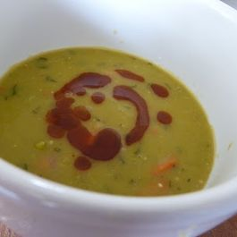 Minted Split Pea Soup with Harissa
