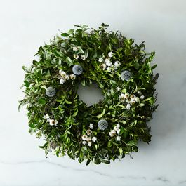 Fresh Myrtle & Thistle Wreath
