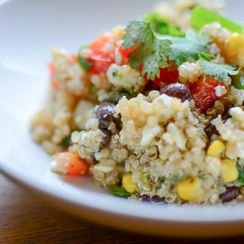 Southwest Quinoa Salad with Sweet & Spicy Honey-Lime Dressing
