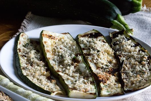 Grilled Zucchini with Parmesan Panko Crust