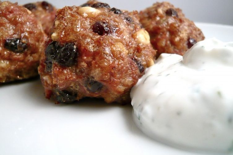 Lamb Meatballs with Yogurt Sauce